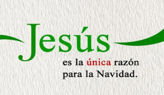 Jesús es la única razón para la Navidad ecard, online card