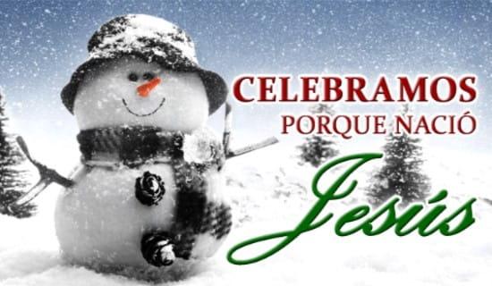 Celebramos porque nació Jesús ecard, online card