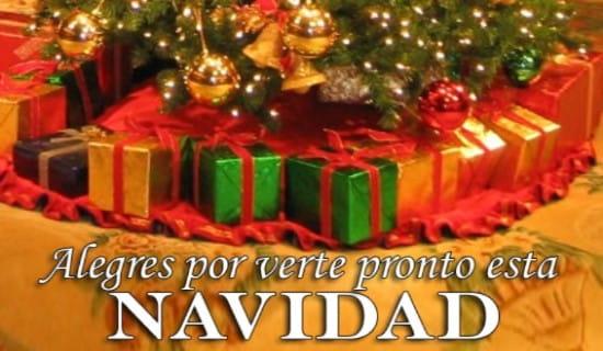 Alegres por verte pronto esta Navidad ecard, online card