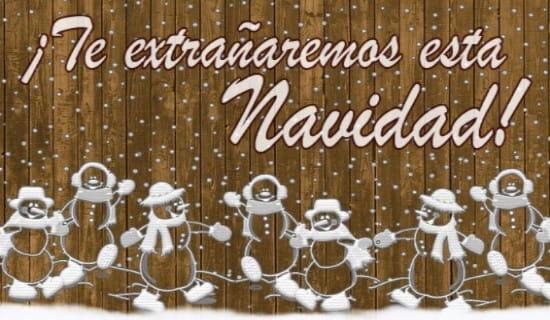 ¡Te extrañaremos esta Navidad! ecard, online card