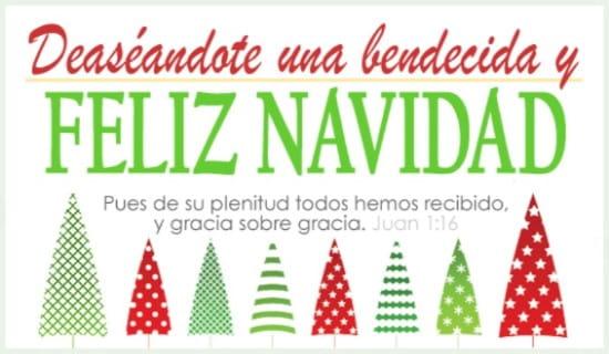 Deaséandote una bendecida y Feliz Navidad ecard, online card