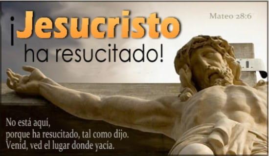 Jesucristo ha resucitado ecard, online card