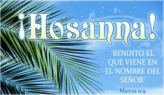 ¡Hosanna! ecard, online card