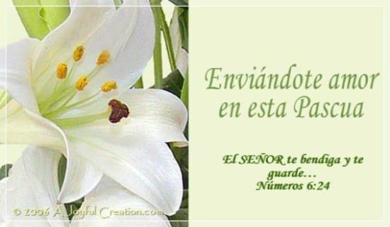 Enviándote amor en esta Pascua ecard, online card