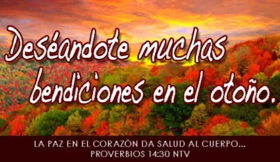 Deséandote muchas bendiciones en el otoño. ecard, online card