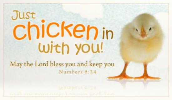 Chicken In ecard, online card