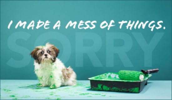 Made A Mess ecard, online card