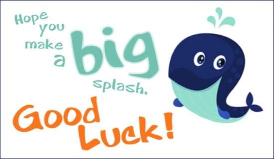 Big Splash ecard, online card