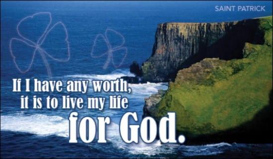 Live For God ecard, online card