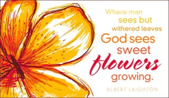 Flowers Growing ecard, online card