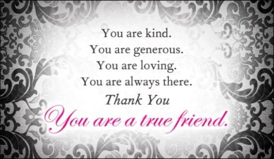True Friend ecard, online card