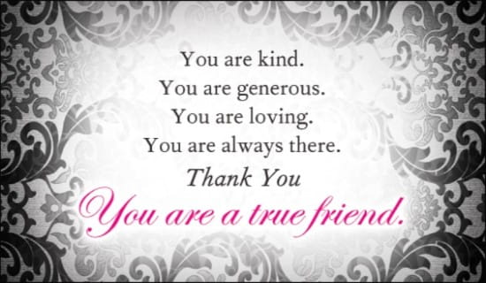 True Friend ecard, online card