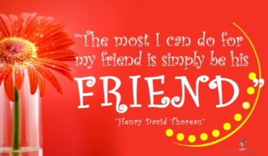 Be His Friend ecard, online card