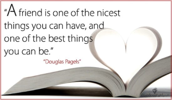 A Friend is One of the Nicest Things to Have ecard, online card