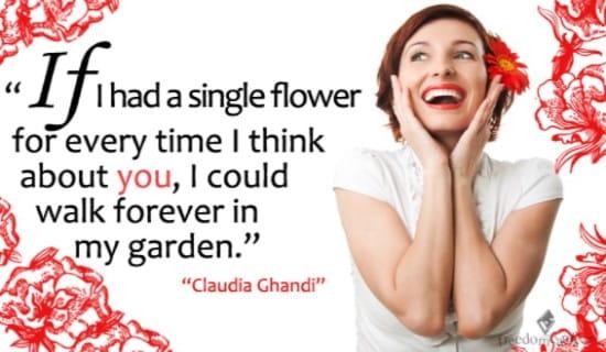 A Single Flower ecard, online card