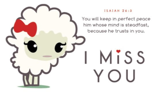 Miss You Lamb ecard, online card
