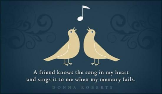 Song In My Heart ecard, online card