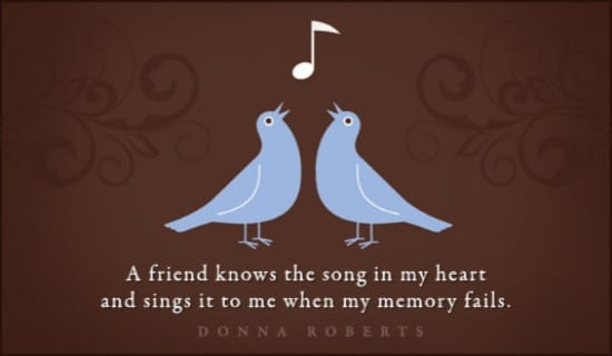 Song In My Heart ecard, online card