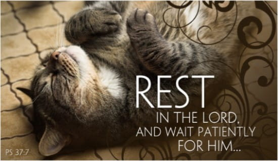 Rest in the Lord ecard, online card