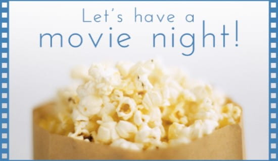 Movie Night  ecard, online card