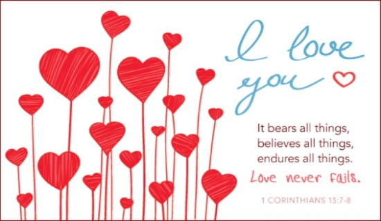 Love Never Fails ecard, online card