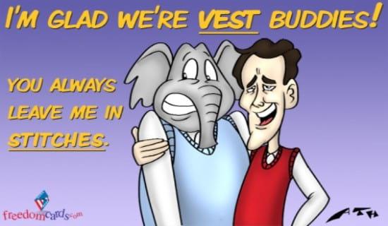 Best Vest Friends ecard, online card
