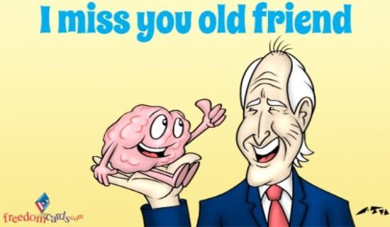 Miss You, Friend ecard, online card