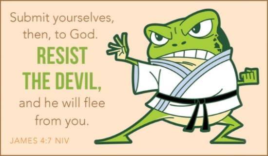 Resist the Devil ecard, online card