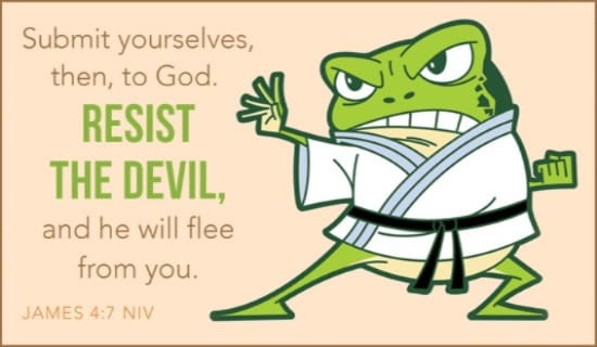 Resist the Devil ecard, online card