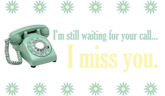 Waiting For Your Call ecard, online card