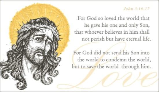 John 3:16-17 ecard, online card