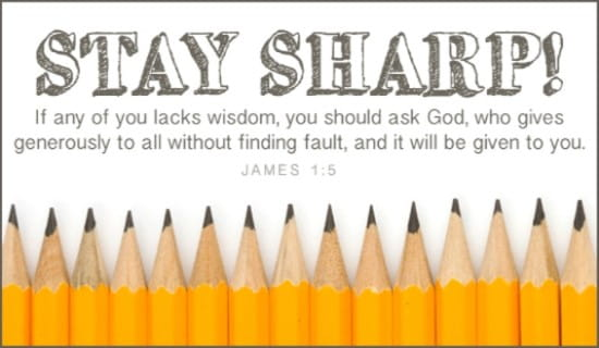 Stay Sharp! ecard, online card