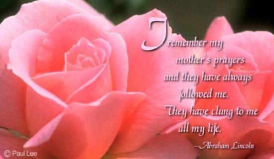 Mother's Prayers ecard, online card