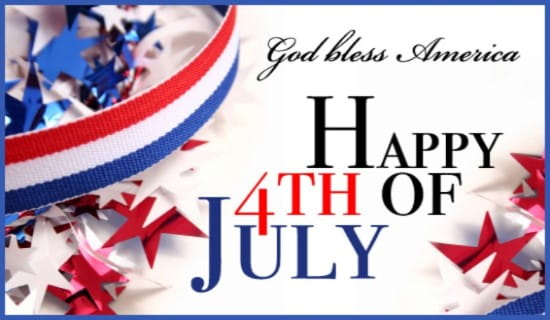 God Bless America Happy Fourth of July ecard, online card