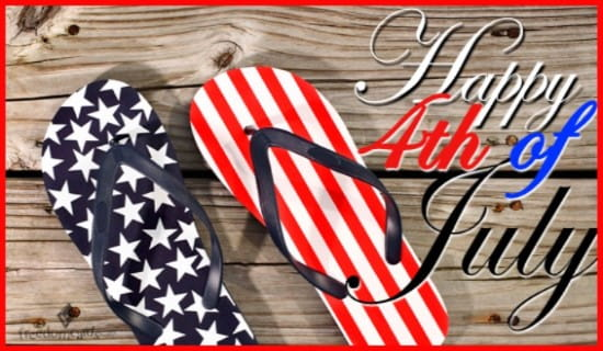 Happy Independence Day! Enjoy Your Sandals ecard, online card