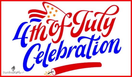Fourth of July Celebration ecard, online card