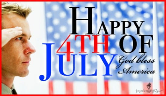 Happy Fourth of July, God Bless America ecard, online card