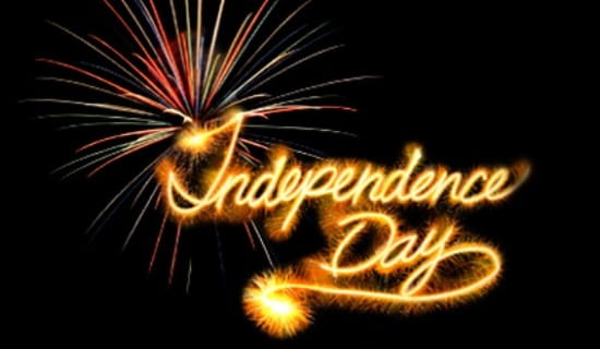 Independence Day Fireworks ecard, online card