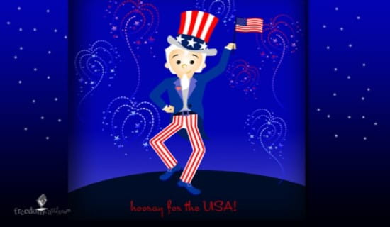 Hooray for the USA ecard, online card