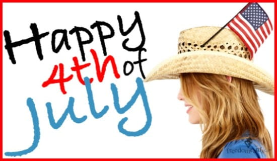 Happy 4th of July, Hat ecard, online card