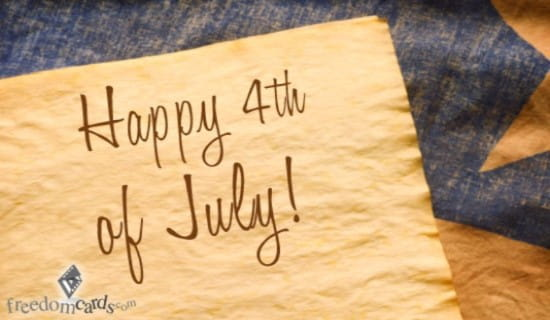 Happy Fourth of July ecard, online card