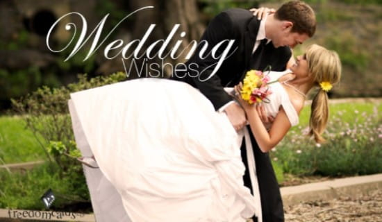 Wedding Wishes ecard, online card