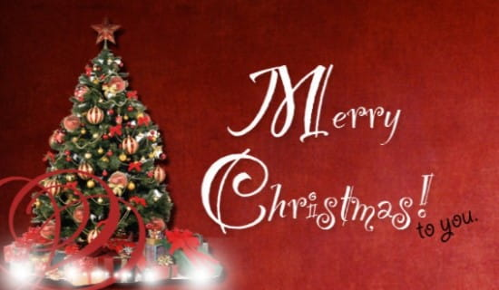 Merry Christmas To You! ecard, online card