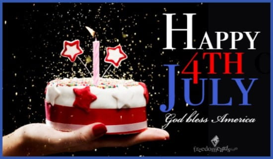Happy 4th July, God bless America ecard, online card