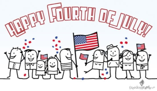 Happy Fourth of July, Celebration ecard, online card