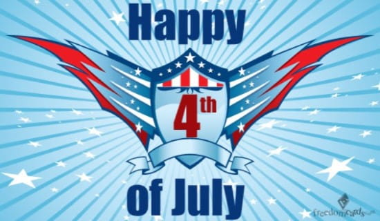 Happy 4th of July ecard, online card