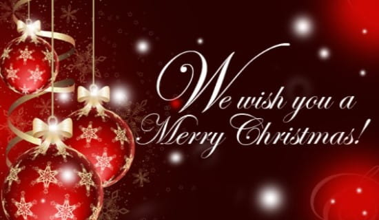 We Wish You A Merry Christmas ecard, online card