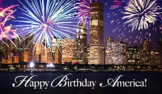 Happy Birthday America! ecard, online card