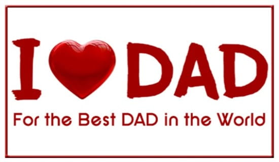 I Heart Dad ecard, online card