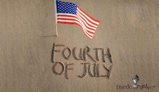 Fourth of July ecard, online card